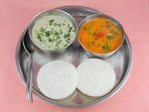 Вегетарианские торты риса Idli Стоковые Фотографии RF