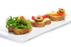 Вегетарианские canapes Стоковое Изображение RF