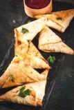 Вегетарианские samosas samsa Стоковое фото RF