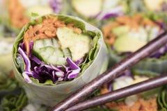 Вегетарианский блинчик с начинкой Стоковое Изображение RF
