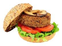 Вегетарианский бургер гриба Стоковые Фотографии RF