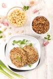 Вегетарианский бургер Стоковые Изображения