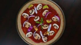 Вегетарианский промежуток времени пиццы видеоматериал