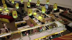 Вегетарианский рынок в центральном фестивале Chiangmai акции видеоматериалы