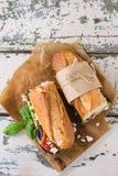 Вегетарианский сандвич багета Стоковая Фотография RF