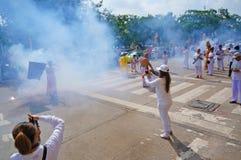 Вегетарианский фестиваль в Таиланде Стоковое Изображение RF