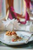 Вегетарианский ragout гриба с овощами и рисом Стоковые Изображения RF