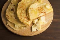 Вегетарианский tortilla с картошками и маслом Стоковое фото RF