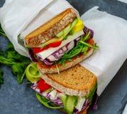 2 вегетарианских сандвича с сыром фета Стоковые Изображения