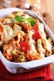 Вегетарианское блюдо макаронных изделий стоковое фото rf