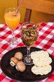 Вегетарианское ceviche гриба еды Стоковое Изображение RF