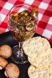 Вегетарианское ceviche гриба еды Стоковая Фотография RF