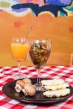 Вегетарианское ceviche гриба еды Стоковые Фото
