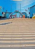 Ведение к лестнице Кристмас стоковые фотографии rf