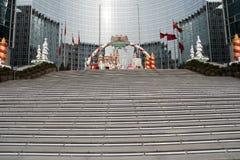Ведение к лестнице Кристмас стоковое изображение