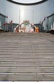 Ведение к лестнице Кристмас стоковое фото rf