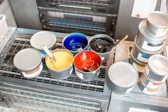 Ведра с красками CMYK Стоковое Изображение
