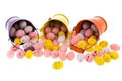 Ведра с пасхальными яйцами Стоковая Фотография