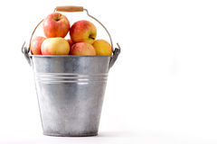 ведро яблок Стоковое Изображение RF