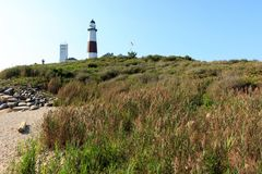 ведущее популярное пункта музея montauk маяка увиденное к прогулке взгляда Стоковая Фотография