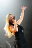 ведущий певец jennifer cella женский Стоковое Изображение
