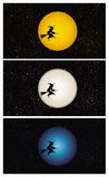 ведьма вектора halloween предпосылки Стоковые Фотографии RF