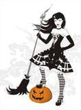 ведьма веника бесплатная иллюстрация
