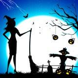ведьма веника иллюстрация штока