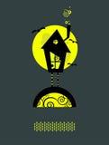ведьма дома s Иллюстрация вектора