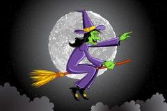 ведьма летания broomstick иллюстрация штока