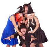 ведьма людей группы costume стоковая фотография