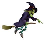 Ведьма на венике Стоковое фото RF