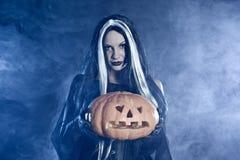 ведьма тыквы портрета halloween Стоковые Фотографии RF