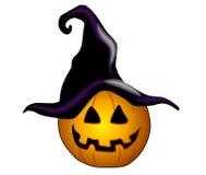ведьма фонарика o jack черной шляпы иллюстрация вектора