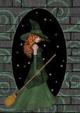 ведьма brickwall redhaired Стоковые Изображения RF
