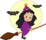 ведьма broomstick Стоковое фото RF