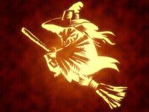 ведьма broomstick Стоковая Фотография RF