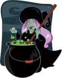 ведьма halloween предпосылки милая иллюстрация вектора