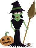 ведьма halloween характера злая Стоковая Фотография RF
