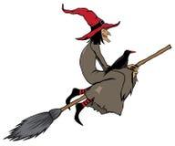 ведьма halloween иллюстрация вектора