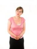 вежливо женщина представления Стоковое Изображение RF