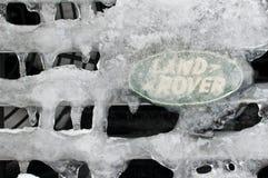 вездеход положения параллели логоса земли льда вниз Стоковые Изображения RF