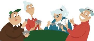 везение игры карточки 4 туза иллюстрация штока