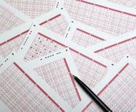 везение lotto лотереи азартной игры париа стоковые изображения rf