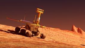 Вездеход Марса на Марсе стоковая фотография