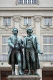 ВЕЙМАР, GERMANY/EUROPE - 14-ОЕ СЕНТЯБРЯ: Goethe†«Schiller Mo стоковая фотография rf