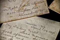 Вековое любовное письмо от Атлантик-Сити Стоковое Изображение RF