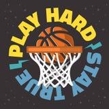 Векторная графика дизайна печати футболки лозунга баскетбола тематическая иллюстрация вектора