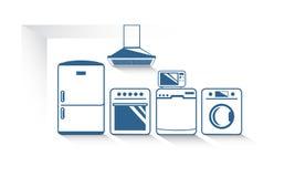 Векторная графика кухонных приборов Стоковое Изображение