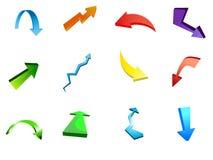 векторы иконы стрелки Стоковое Изображение